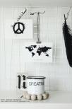 """Vykort världskarta """"It doesn´t matter..."""""""